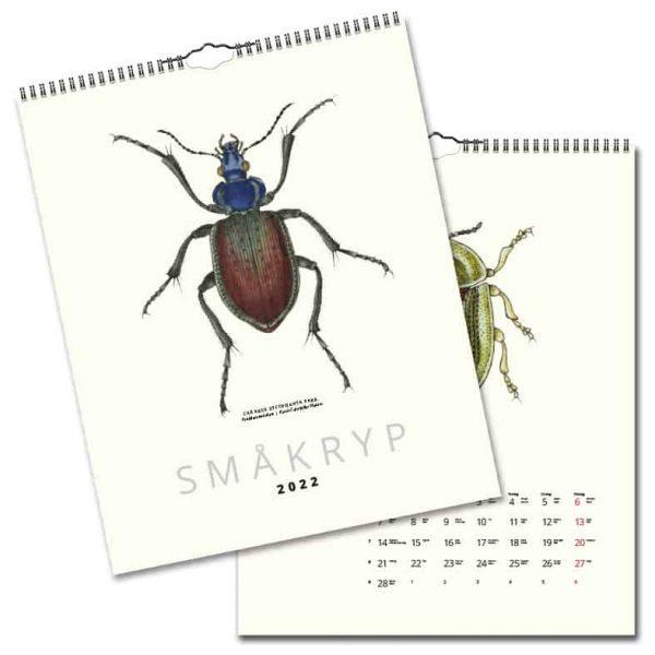 Väggkalender Småkryp 2022 hos Kalenderspecialisten