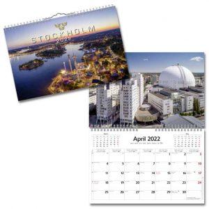 Väggkalender Stockholm 2022 hos Kalenderspecialisten