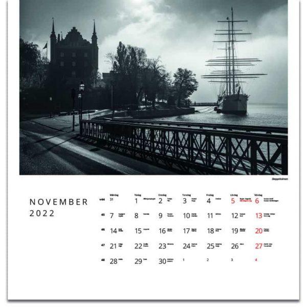 Väggkalender Stockholm Retro 2022 kalendarium