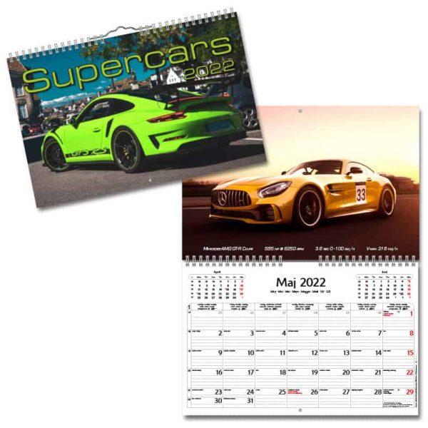 Väggkalender Supercars 2022 hos Kalenderspecialisten