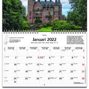 Väggkalender Svenska Slott 2022 kalendarium