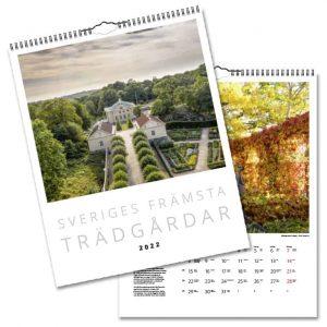 Väggkalender Sveriges Främsta Trädgårdar 2022 hos Kalenderspecialisten