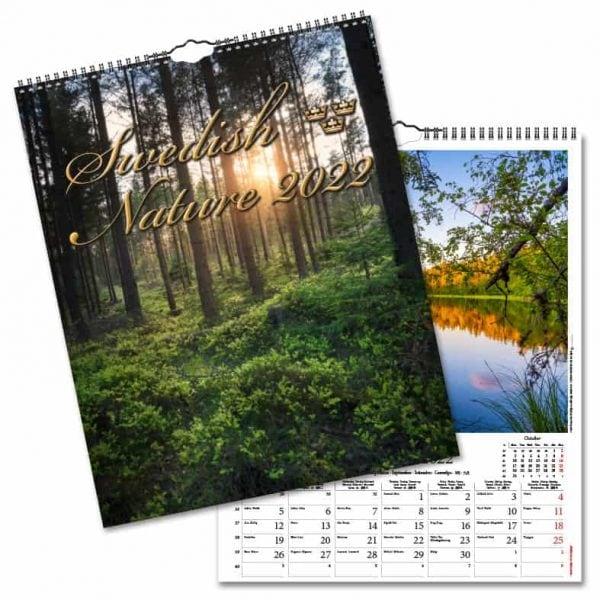Väggkalender Swedish Nature 2022