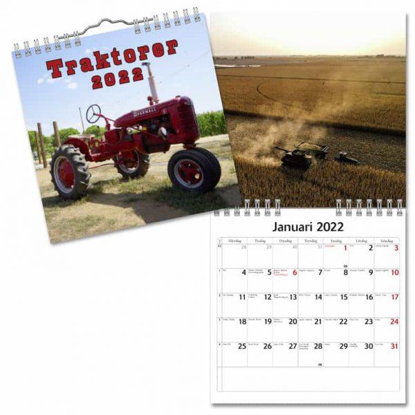 Väggkalender Traktorer Mini 2022 hos Kalenderspecialisten