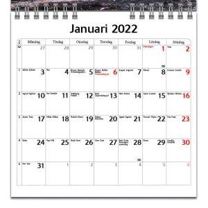 Väggkalender Traktorer Mini 2022 kalendarium