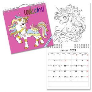 Väggkalender Unicorn Mini 2022 hos Kalenderspecialisten