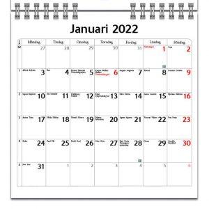 Väggkalender Unicorn Mini 2022 kalendarium