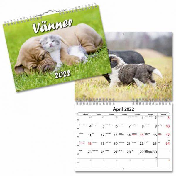 Väggkalender Vänner 2022 hos Kalenderspecialisten