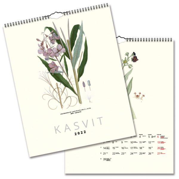 Väggkalender Växter 2022 Finsk