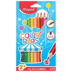 Färgpennor barn Jumbo 12 färger hos Kalenderspecialisten