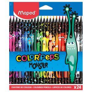 Färgpennor barn Monster 24 färger hos Kalenderspecialisten