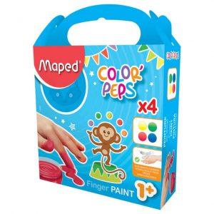 Fingerfärg barn 4 färger