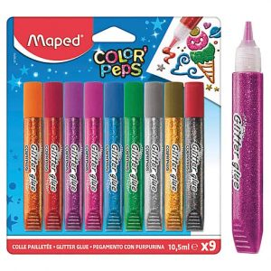 Glitterfärg 9 färger hos Kalenderspecialisten