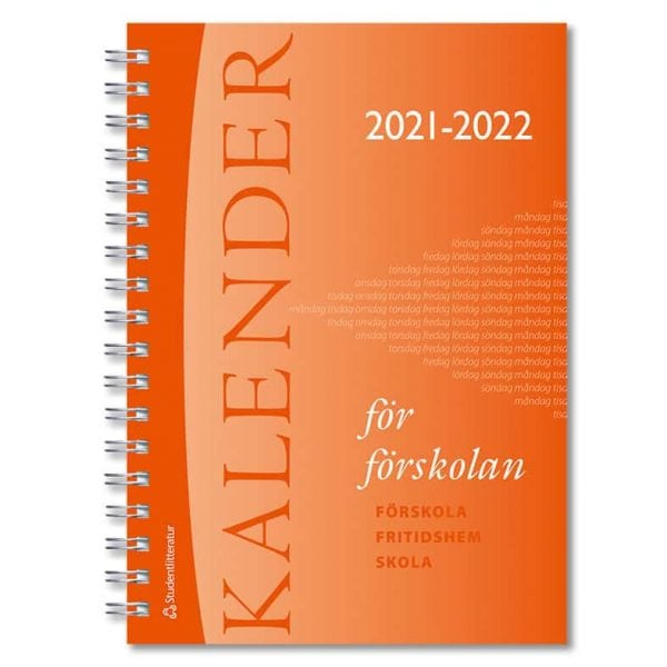 Kalender för förskolan 2021-2022 Omslag hos Kalenderspecialisten