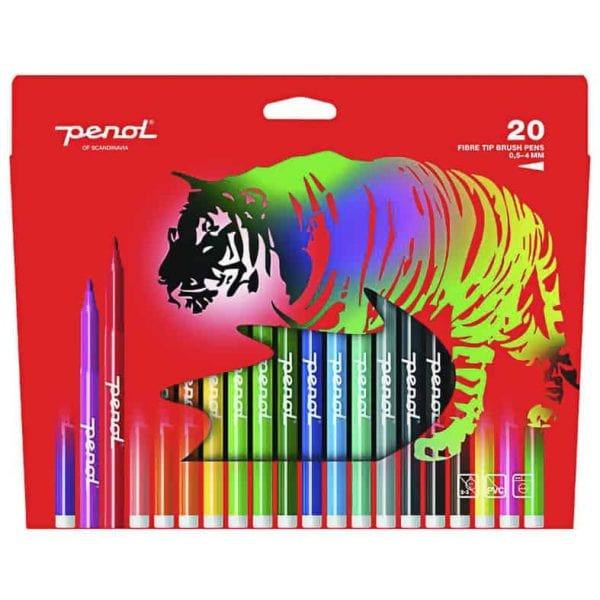 Penselpennor 20 Färger Penol hos Kalenderspecialisten