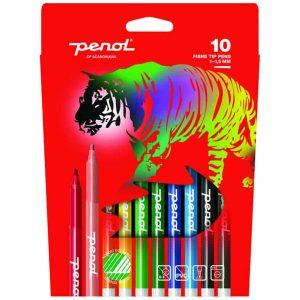 Tuschpennor 10 Färger Penol hos Kalenderspecialisten