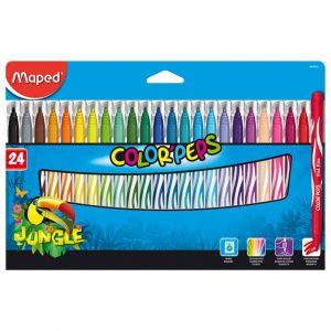 Tuschpennor barn Jungle 24 färger hos Kalenderspecialisten