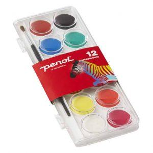 Vattenfärg 12 färger Penol hos Kalenderspecialisten