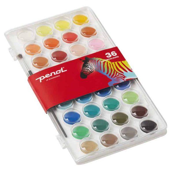 Vattenfärg 36 Färger Penol hos Kalenderspecialisten