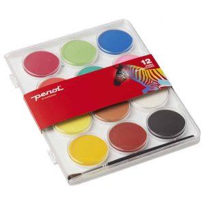 Vattenfärg JUMBO 12 Färger Penol hos Kalenderspecialisten
