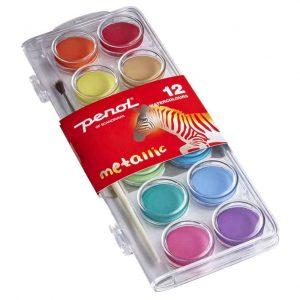 Vattenfärg METALLIC 12 färger Penol hos Kalenderspecialisten