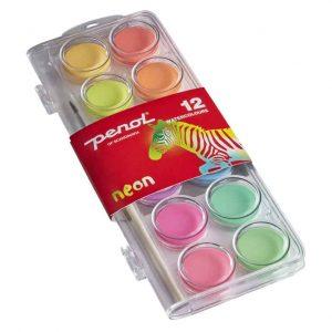Vattenfärg NEON 12 Färger Penol hos Kalenderspecialisten